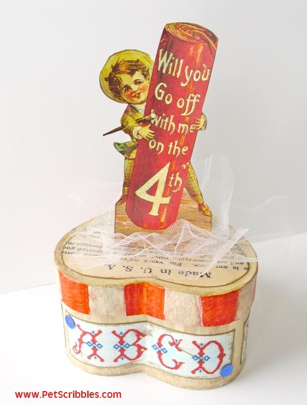 July 4th Craft - Vintage Patriotic Decor