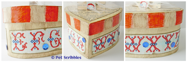 July 4th Craft - patriotic paper mache box