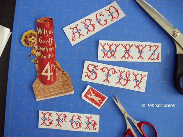 July 4th Craft - vintage graphics