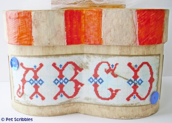 July 4th Craft - vintage patriotic box decor