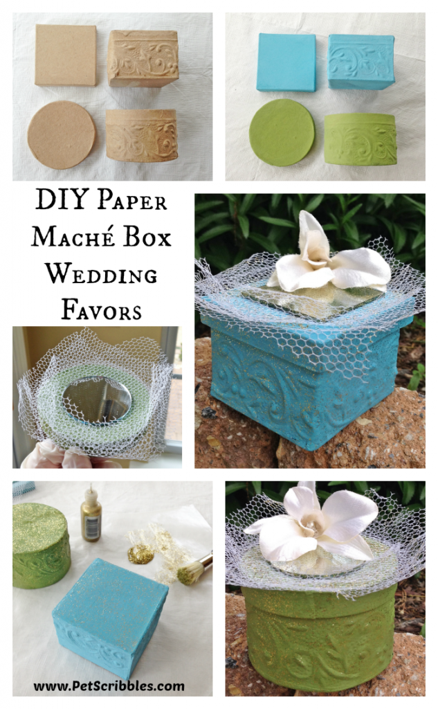 Paper Mache Box Wedding Favors Deja Vue Designs