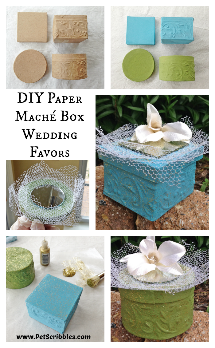 Paper Mache Box Wedding Favors Deja Vue Designs