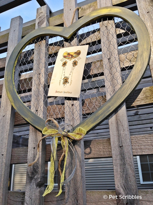 Rustic Chicken Wire Heart