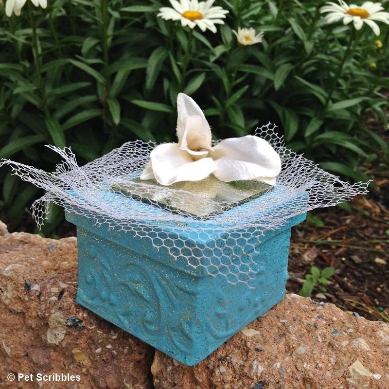 chalk paint paper mache box wedding favors