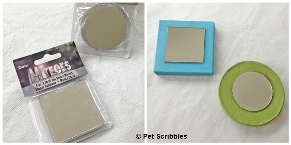 craft mirrors and paper mache boxes