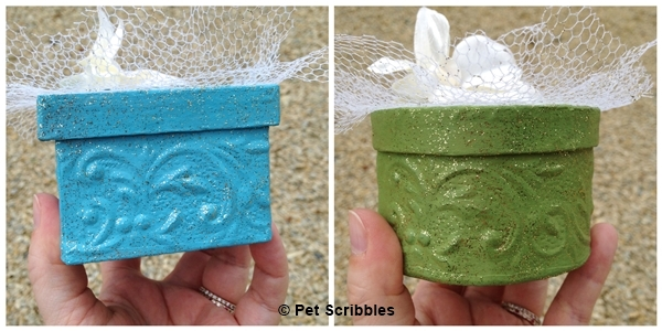 paper mache boxes for wedding favors