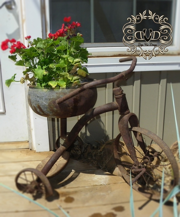 Rusty Tricycle Planter