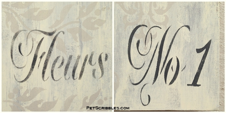 french words on shabby books
