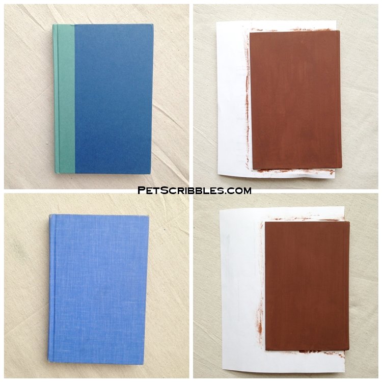 making shabby books with paint
