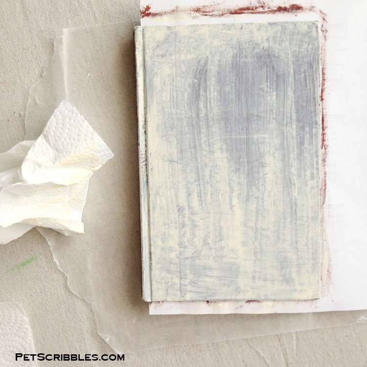 shabby painted books