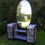 Art Deco Zebra stripe dresser!