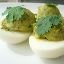avacado deviled eggs