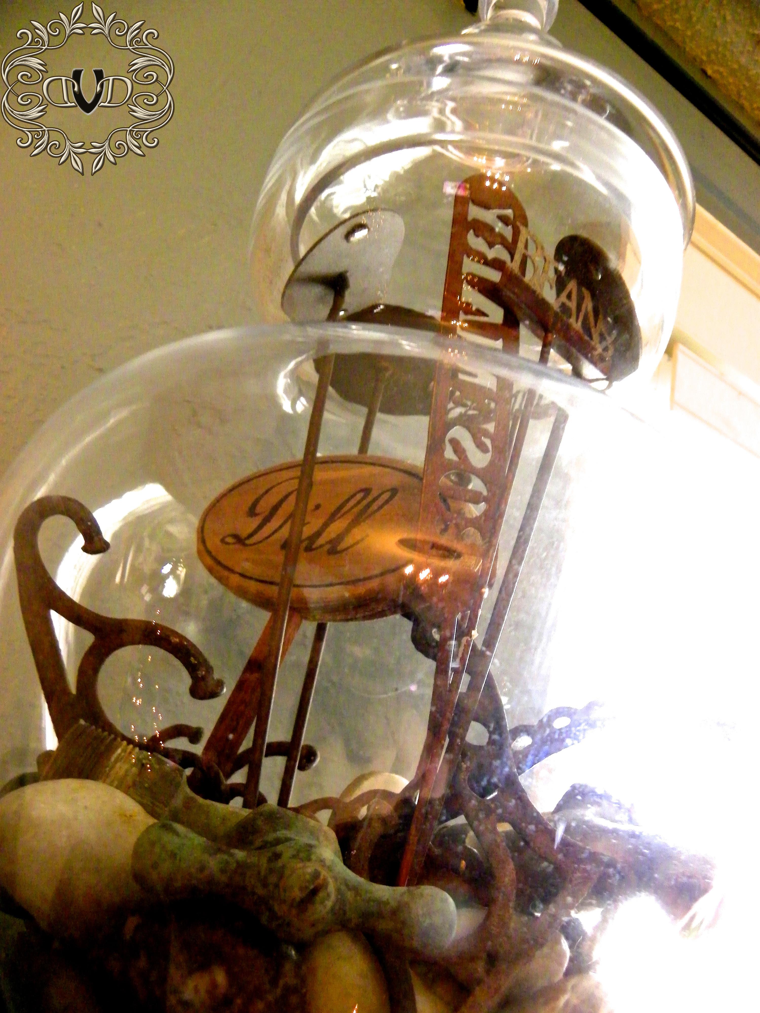 Junk Filled Apothecary Jar