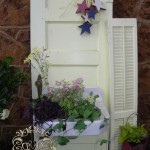 Door with a planter box sink