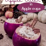 Apple Drinks Served in Apple Cups