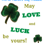 Love and Luck Free St. Patrick's Day Printable