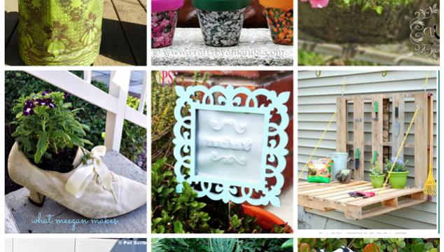 DIY Garden Planters and Garden Art - 9 inspiring DIYs you can make!