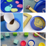 Reuse Plastic Lids for Crafting and Painting!