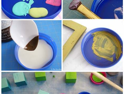 Plastic Lids for Crafting and Painting!