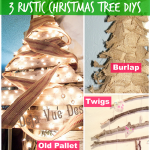 3 Rustic Christmas Trees