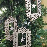 DIY Silver Glitter Ornament