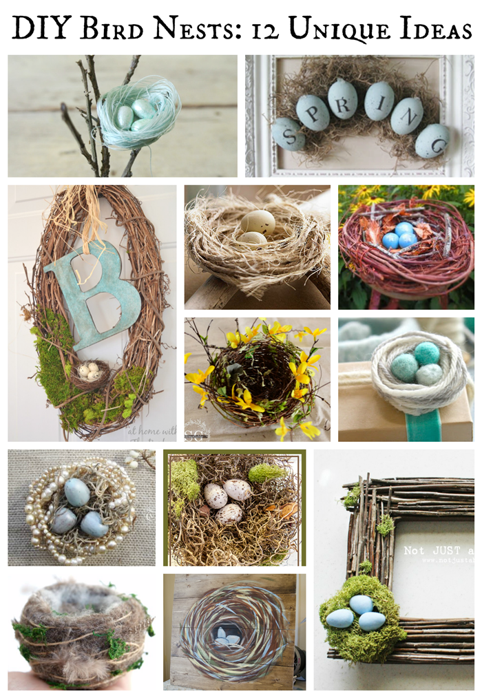 Diy Bird Nests 12 Unique Ideas Deja Vue Designs