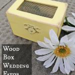 Wood Box Wedding Favor