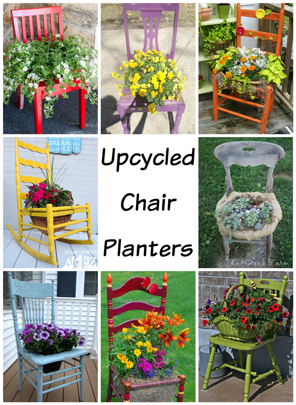 Upcycled Chair Planters Deja Vue Designs