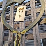Rustic Gray and Yellow Chicken Wire Heart